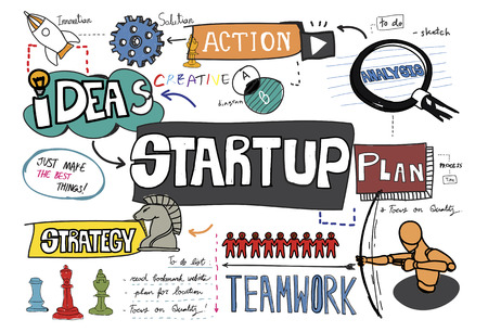 Startup sketch illustration Archivio Fotografico - 108372475