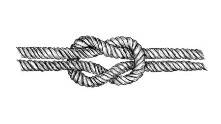 Noeud carré dessiné à la main Banque d'images