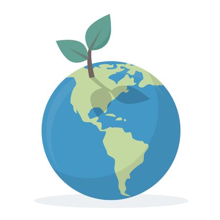 Globe with ecology concept Foto de archivo - 115663140
