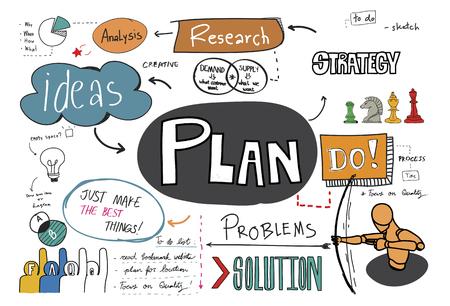 Plan schets illustratie Stockfoto