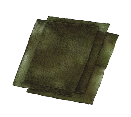 Hand drawn nori seaweed sheets Standard-Bild