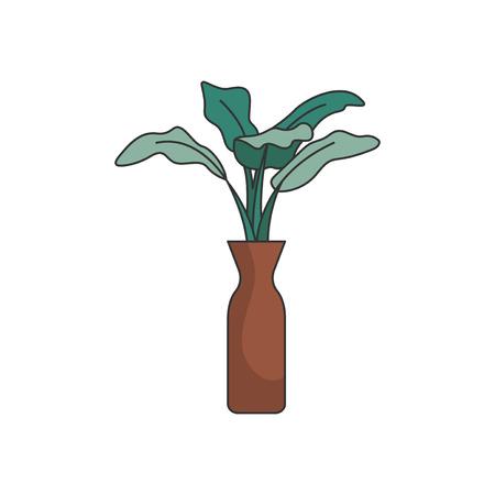 Illustration of a plant in a vase Banco de Imagens
