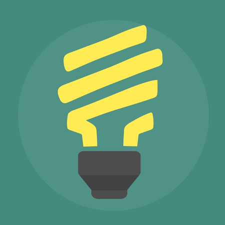 Energy saving lightbulb icon