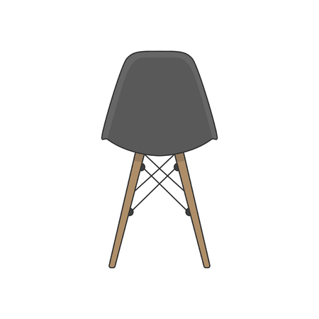 Illustration of the back of a chair Reklamní fotografie