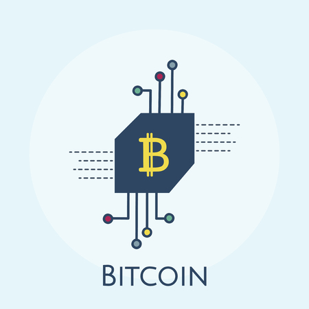 Illustration of bitcoin concept Stock fotó - 108377063