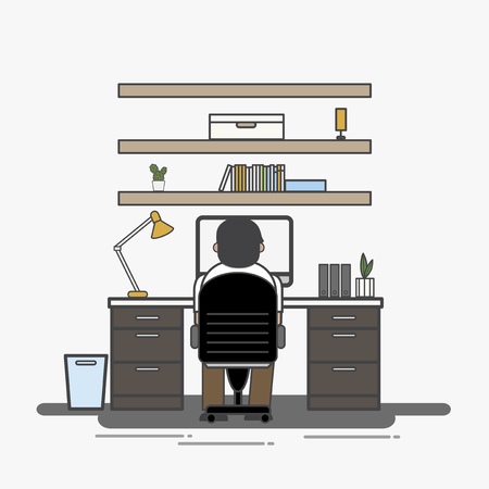 Illustration of office worker avatar Stock fotó
