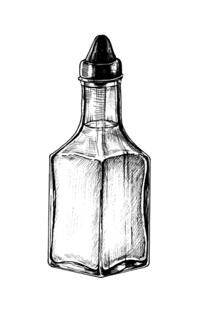 Hand drawn vinegar dispenser 写真素材