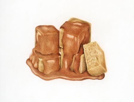 Illustration of caramel candy Stock Photo