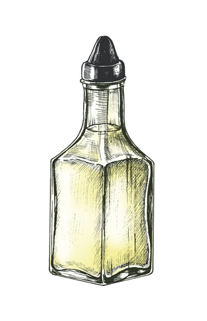 Hand drawn vinegar dispenser Archivio Fotografico