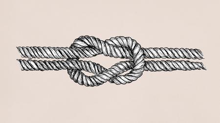 Ręcznie rysowane kwadratowy węzeł