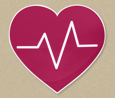 Heart beat frequency icon illustration Stock fotó