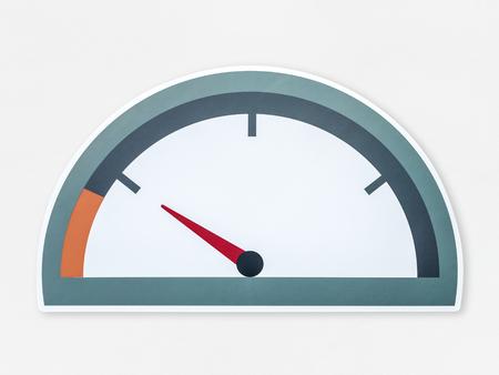 Low fuel vector illustration icon Stock Photo
