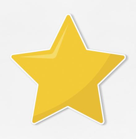 Sternsymbol auf weißem Hintergrund