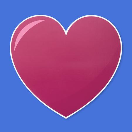 Isolated heart shape illustration icon