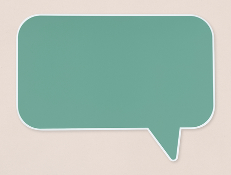 Green speech bubble icon isolated 写真素材