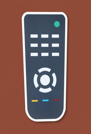 Flat remote control vector illustration