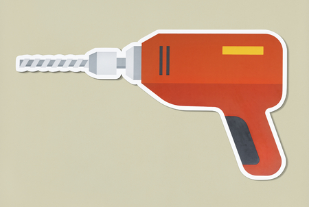 Drill hand tool on isolated