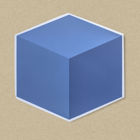 Isolated 3D cube box icon 写真素材