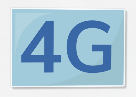 4G network communication icon illustration Stock Photo