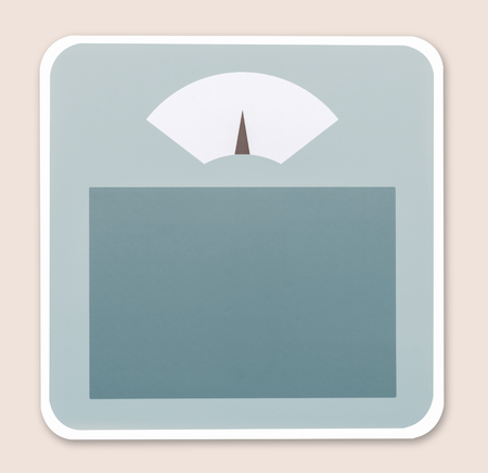 Weighing scale icon illustration 写真素材