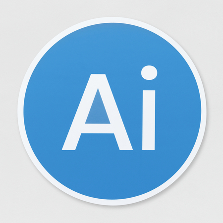 Isolated artificial Intelligence icon illustration
