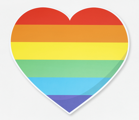 Isolated LGBT heart icon illustration