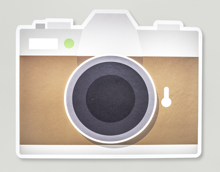 A camera isolated on background