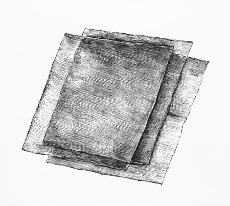 Hand drawn nori seaweed sheets Stock Photo