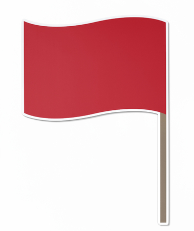 Isolated red flag vector illustration
