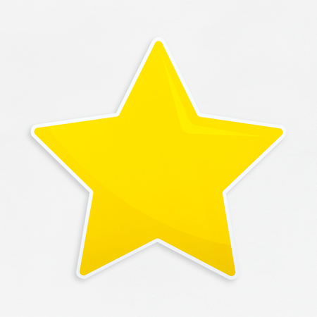Golden favorite star icon isolated
