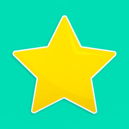 Golden favorite star icon isolated Reklamní fotografie - 109444692