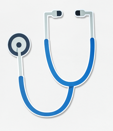 Blue stethoscope vector illustration icon