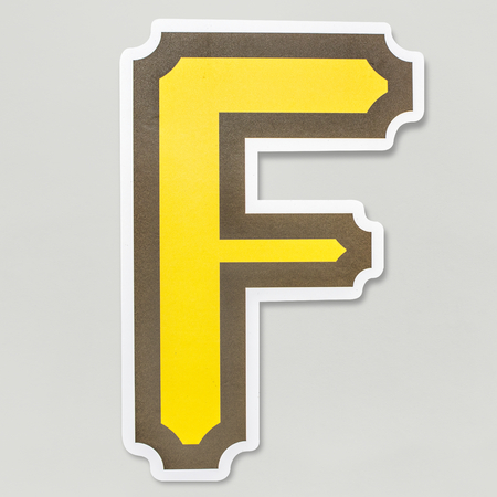 English alphabet letter F icon isolated 写真素材