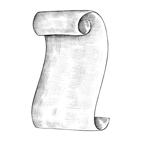 Hand drawn parchment paper roll Stock fotó