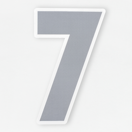 Number 7 icon isolated