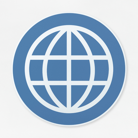 Global searching icon on white background Stock Photo