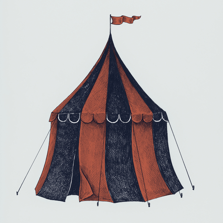 Hand drawn circus tent isolated on background Zdjęcie Seryjne