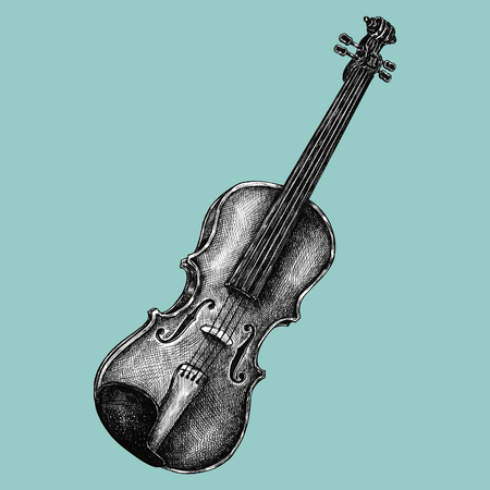 Hand drawn violin isolated on background Stockfoto - 109445206