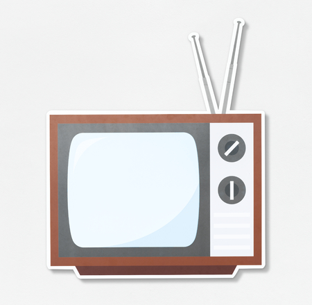 Retro TV vector illustration icon