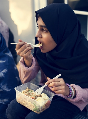 Young Muslim student Stock Photo