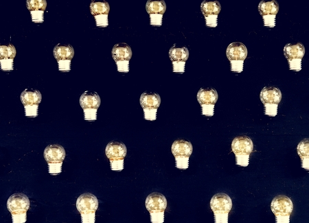 Lots of lightbulb isolated on background