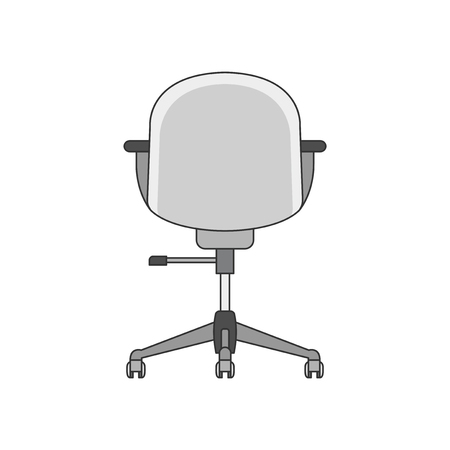 Illustration of the back of a chair 스톡 콘텐츠