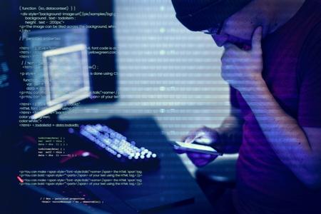 Computer hacker shoot