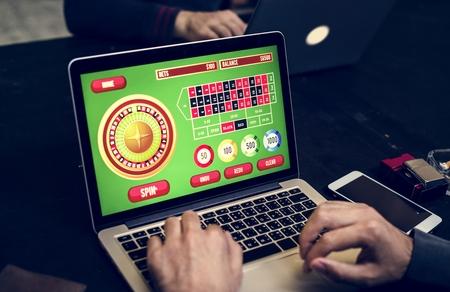 Diverse adults gambling shoot Reklamní fotografie