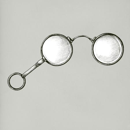Old glasses vintage style illustration Stock Photo