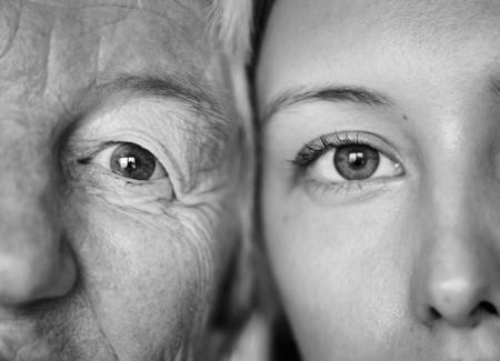 Closeup of family eyes Imagens