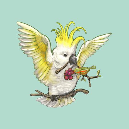Illustration of birds Stock Photo