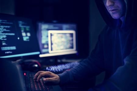 Hacker shoot Stock Photo