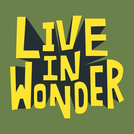 Live in Wonder inspirational quote