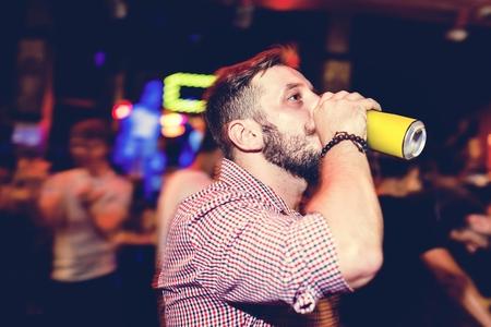 Man drinking beer 写真素材